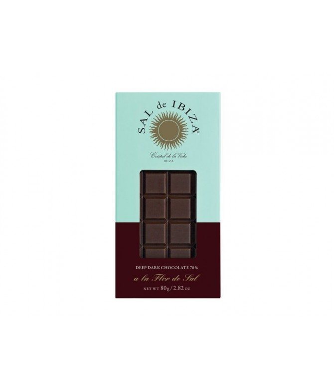 TABLETA CHOCOLATE NEGRO CON FLOR DE SAL BIO